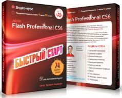 Постер: Видеокурс Adobe Flash Professional CS6. Быстрый старт. Валерий Медведев.(2015)
